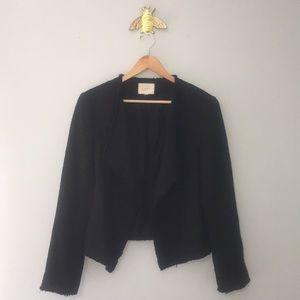 Ann Taylor LOFT Asymmetrical Tweed Blazer